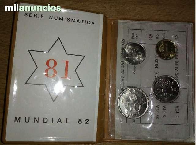 CARTERA MONEDAS MUNDIAL 82 ESTRELLA 81
