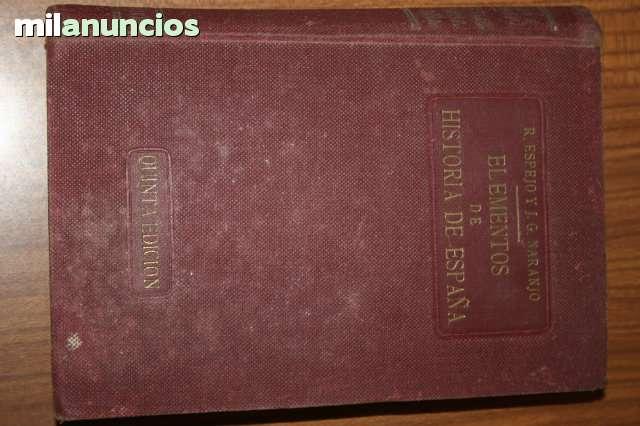 Libro Antiguo De Elementos De Historia
