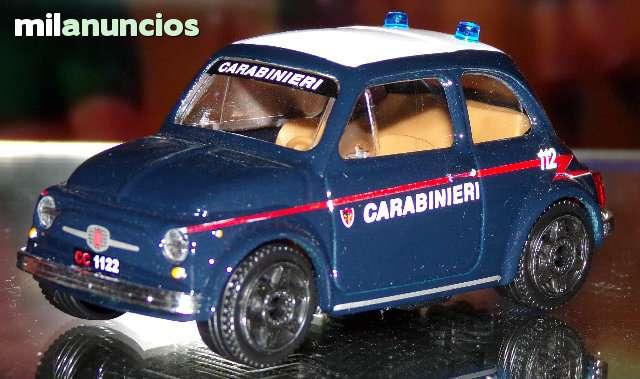 Fiat 500 Carabineri Escala 1:43 De Burag