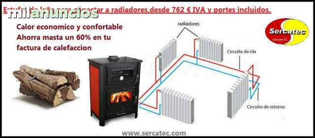 Electrodom sticos estufas en caldera de le a de segunda mano - Estufa de lena para radiadores ...