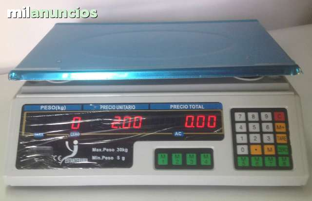 BALANZA BASICA COMERCIAL LCD 40KG