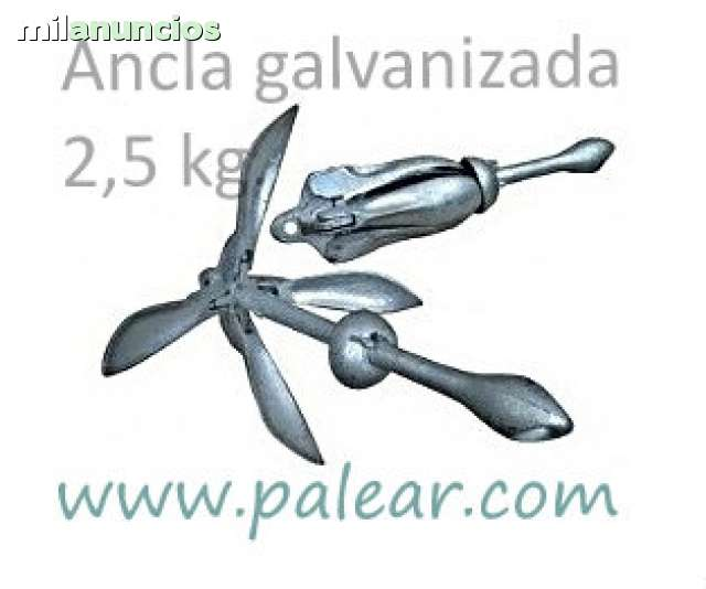 ANCLA PLEGABLE 2. 5KG GALVANIZADA PALEAR - foto 2