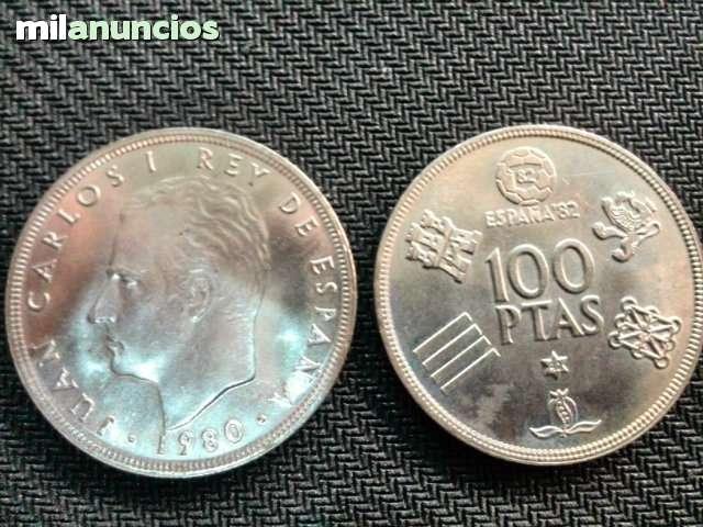 Moneda  De 100 Pesetas Año 80