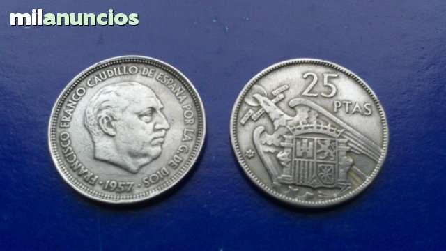 Moneda 25 Pesetas Franco 1957