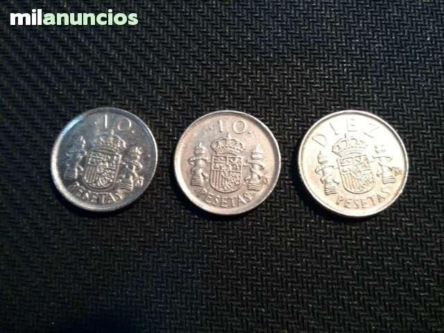 Lote 3 Monedas De 10 Pesetas 1992