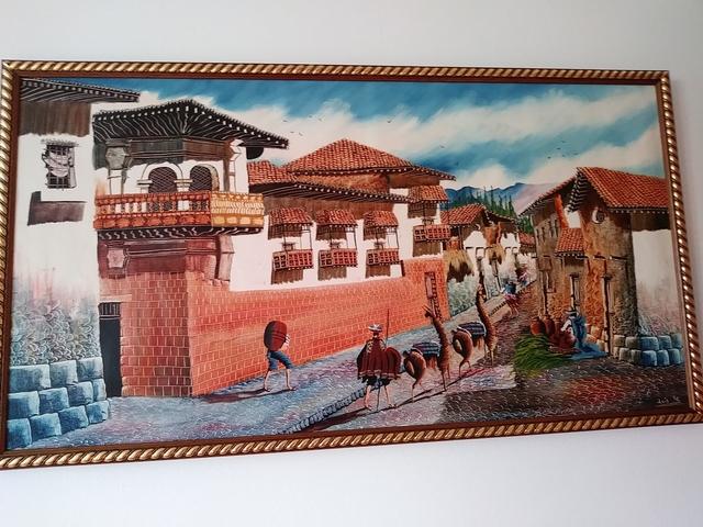 ÓLEO CUZCO ,  PINTURA PERÚ - foto 1