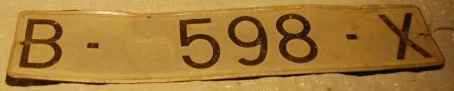 MATRICULA DE COCHE DE 1973 - foto 1