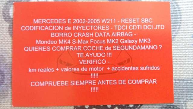 RESET SBC - MERCEDES E CLASSE W211