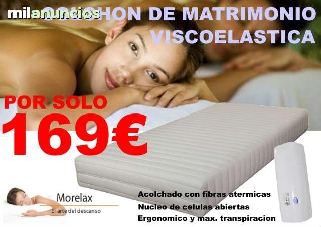 COLCHON VISCOLASTICA DE MATRIMONIO