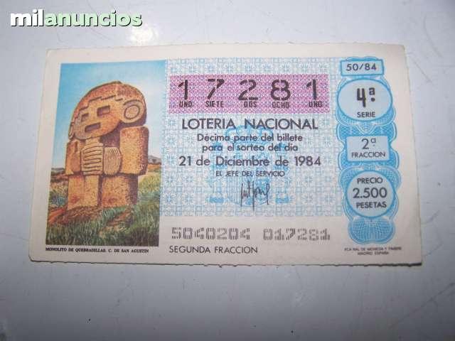 LOTERIA NACIONAL 1984 - foto 3