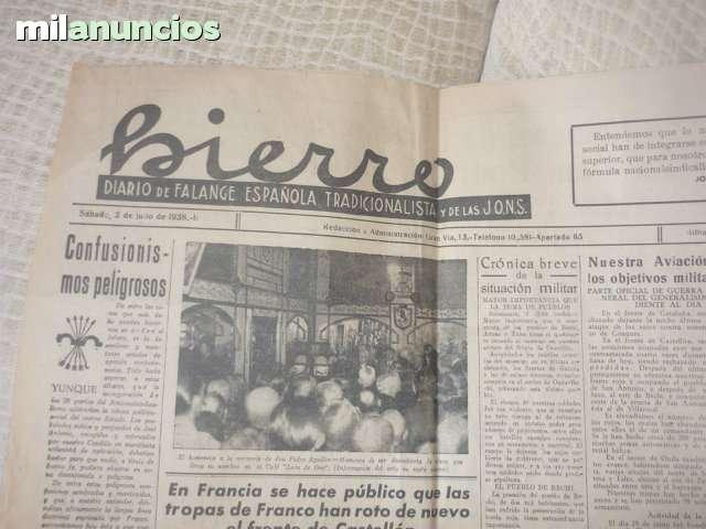 Hoja Del Diario Hierro