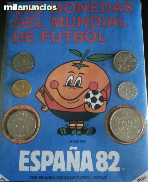 MONEDAS DEL MUNDIAL 1982, CON NARANJITO segunda mano  Madrid