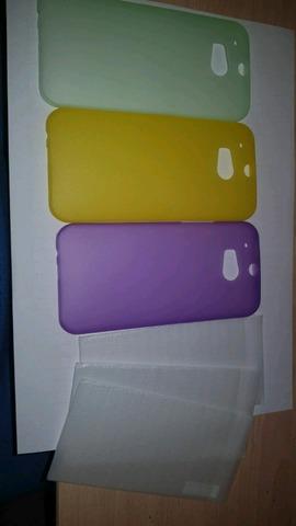 FUNDA Y CRISTAL HTC ONE M8