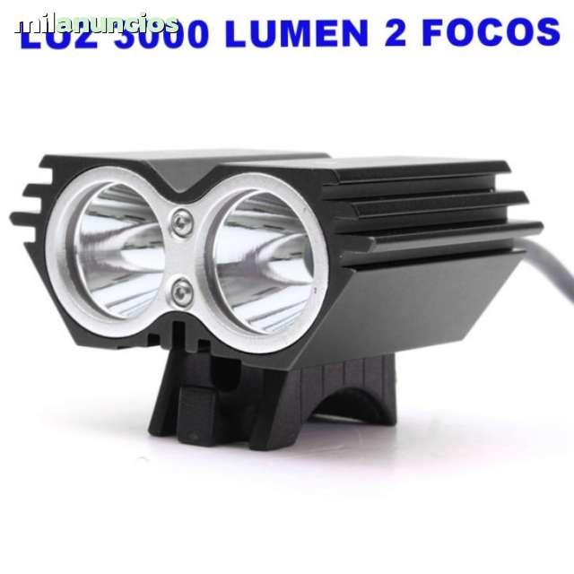 LUZ BICI C 2 FOCOS LED 3000 LM REGALO