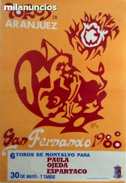 Cartel De Toros De Aranjuez 1988.