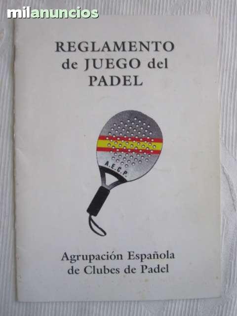 ANTIGUO REGLAMENTO DE PADEL - foto 1