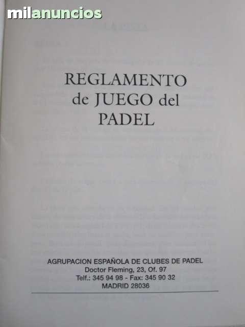 ANTIGUO REGLAMENTO DE PADEL - foto 2