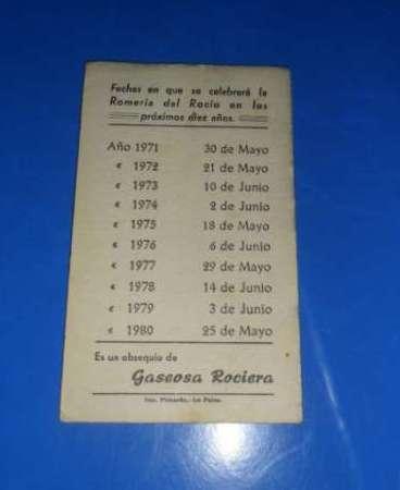Calendario Del 1979.Calendario Antiguo De Romerias Del Rocio