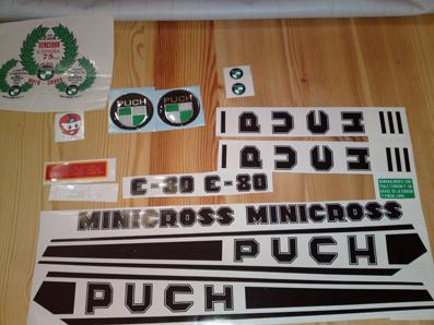 PEGATINAS ADHESIVOS PUCH MINICROSS - foto 1
