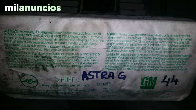 90561101 1610662 LHD AIRBAG ASTRA G