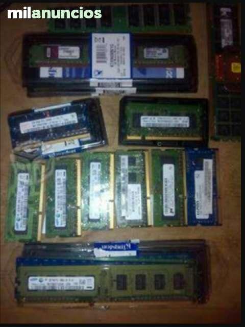 MEMORIAS RAM DDR, DDR2, DDR3