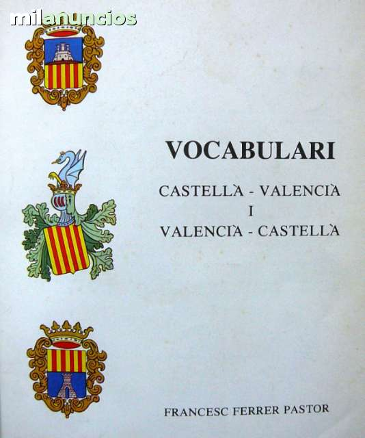 FERRER PASTOR:  VOCABULARI CASTELLÀ-VALEN - foto 1