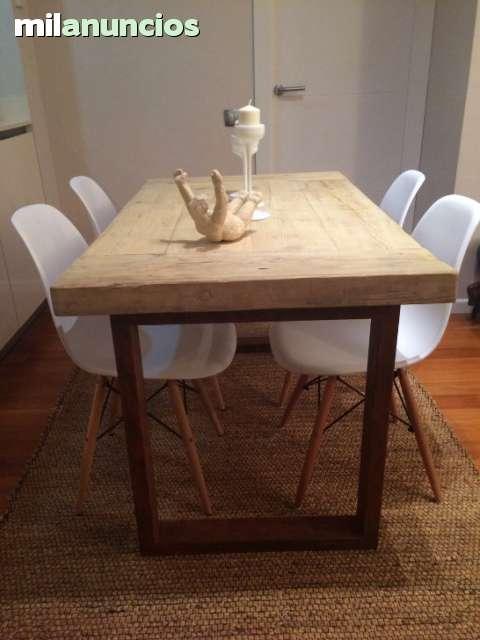 mesa de diseo hierro y madera reciclada