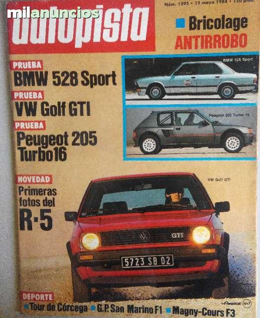 AUTOPISTA Nº129 GOLF GTI-PEUGEOT 205 T16