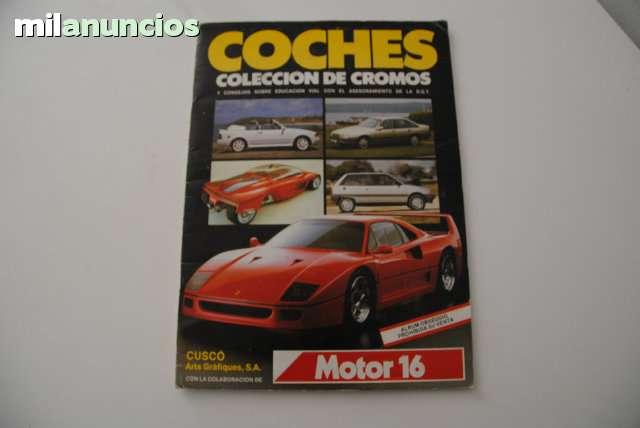 ÁLBUM DE CROMOS COCHES (MOTOR 16) 1988