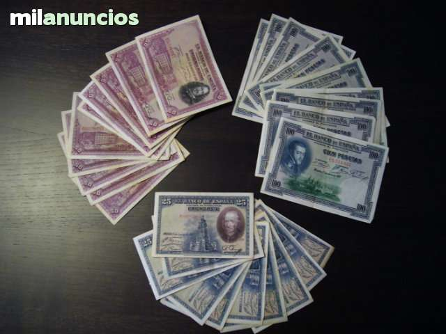 25, 50 Y 100 Pesetas (Lote 30 Billetes)
