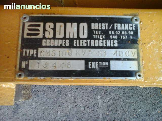 GENERADOR SDMO CMS 100 KVA - foto 3