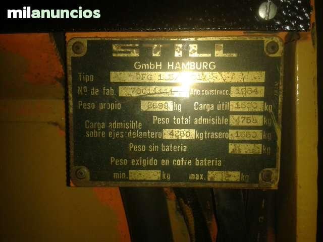 CARRETILLA ELEVADORA STILL DFG 1. 5/7001 - foto 7