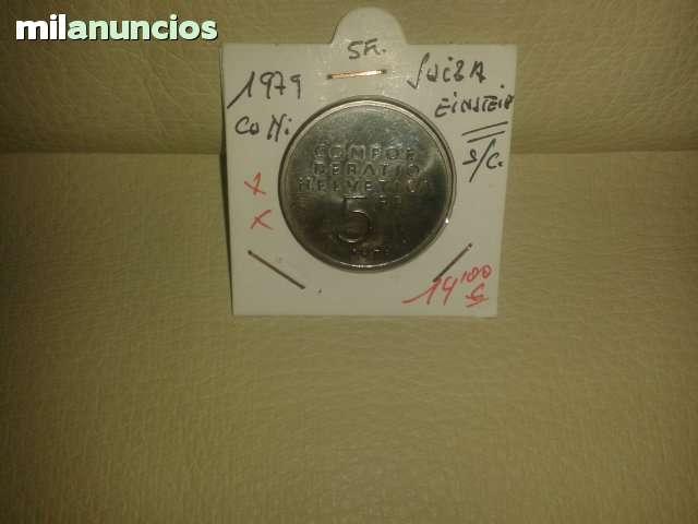 5 Francos Suiza De **1979** Einstein++++