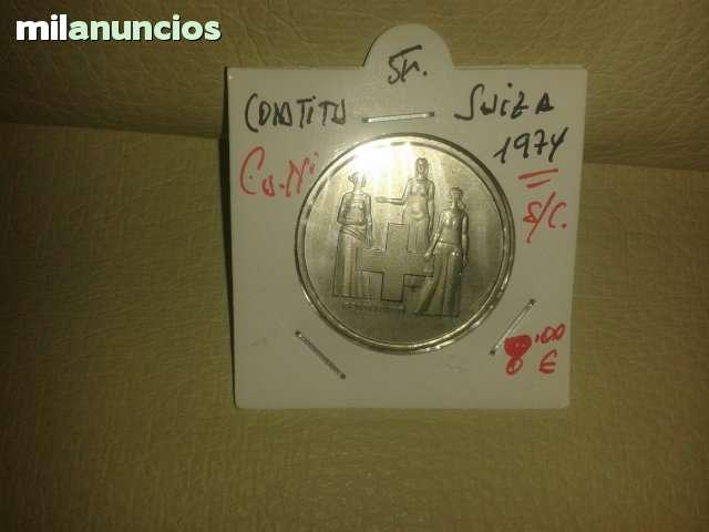 5 Francos De Suiza *+1974**