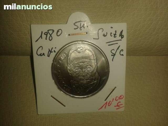 5 Francos De Suiza *+1980**
