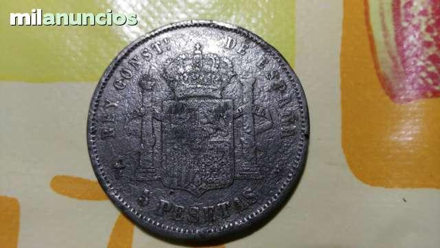 5 PESETAS DEL 1878 DE PLATA