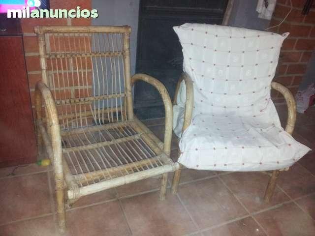 sillones de bambu y sillon cama
