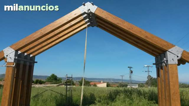 Mil anuncios com estructura madera acero u hormig n - Estructuras casas de madera ...