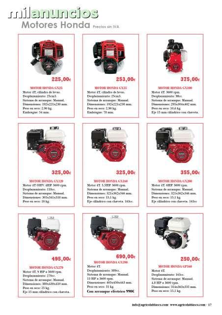 MOTOR HONDA GX160, GX200, GX270Y GX390