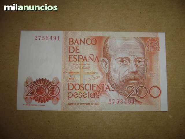Billete 200 Pesetas Leopoldo Clarin