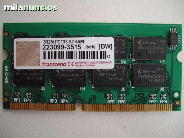MEMORIA DE 512 MB. PORTÁTILES ANTIGUOS