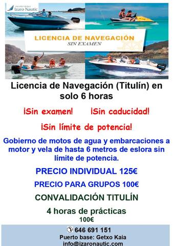 LICENCIA DE NAVEGACIÓN (NUEVO TITULIN) - foto 1
