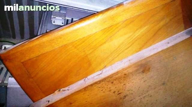 ENCIMERA MADERA MACIZO CASTAÑO Y  CURVA - foto 3
