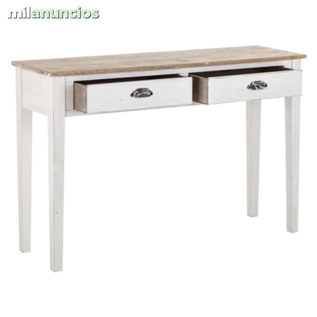 CONSOLA BLANCA ANTIC-NATURAL