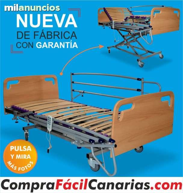 CAMA GERIATRICA CARRO ELEVADOR COMPLETA