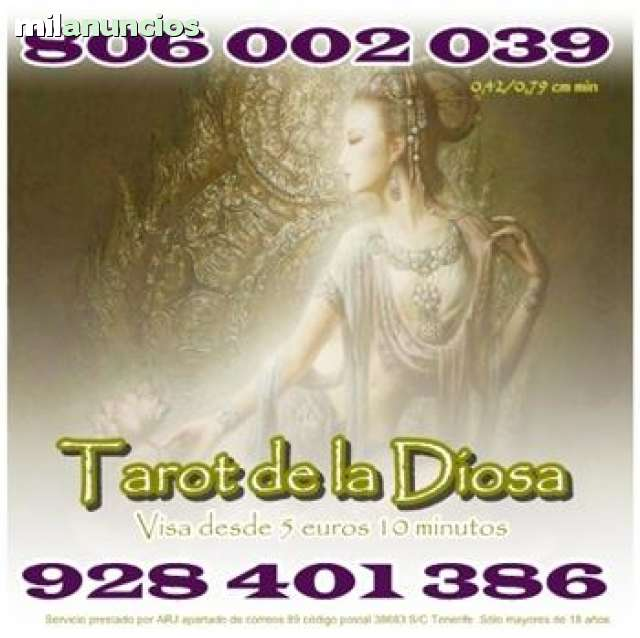 TAROT DE LA DIOSA 806 POR SÓLO 0, 42 CM M