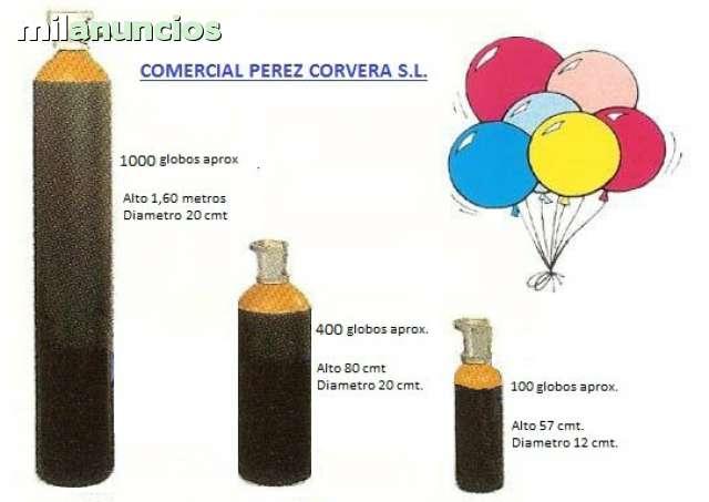 Botella de gas Helio Bombona para soldadura globos 8 litros
