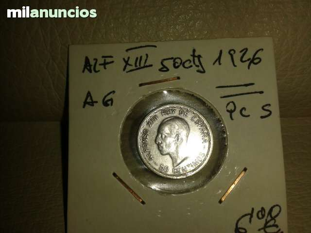 50 Centimos*+Alfonso Xiii 1926**
