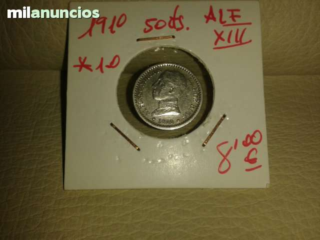 50 Centimos  *+Alfonso Xiii De 1910**