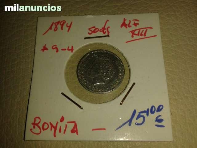 50  Centimos ** Alfonso Xiii De 1894**